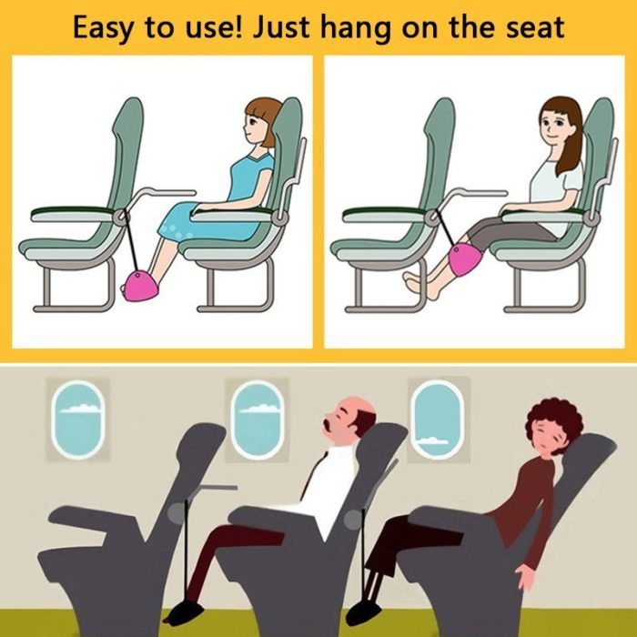 ערסל רגליים למטוס עם תיק נשיאה