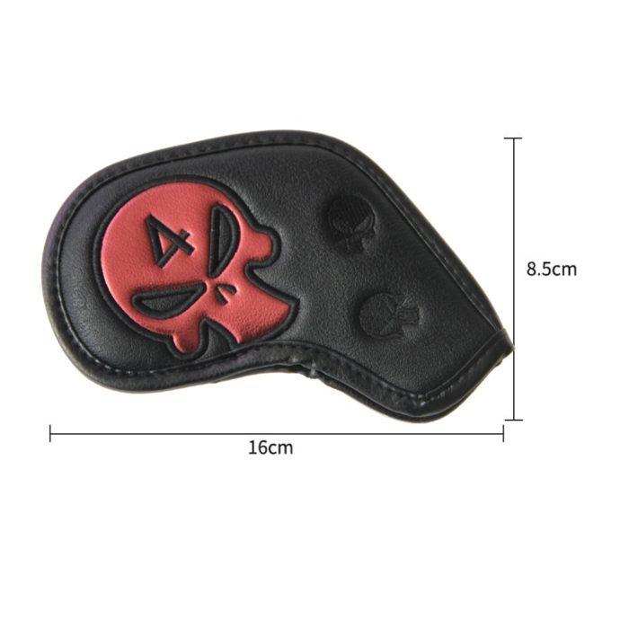 מכסי עור בעיצוב גולגולת לראשי מקלות גולף (9 יח')