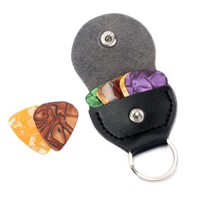 מחזיק מפתחות לאחסון מפרטי גיטרה עם 3 מפרטים מתנה