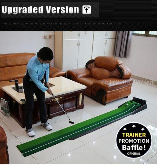 עמדה ביתית מקצועית לאימון משחקי גולף עם אלה וכדורים מתנה