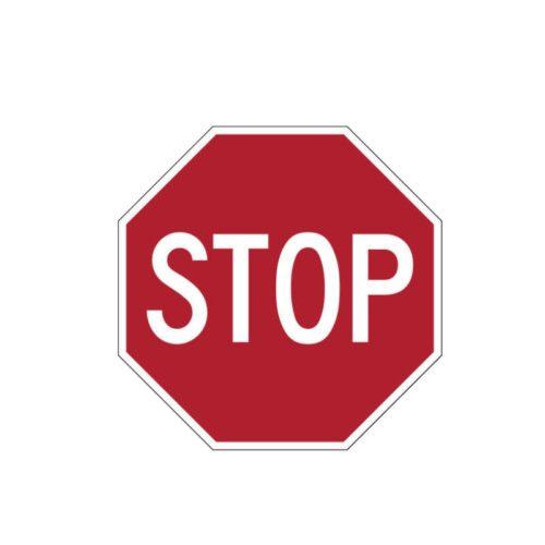 """סטיקר תמרור עצור """"STOP"""""""