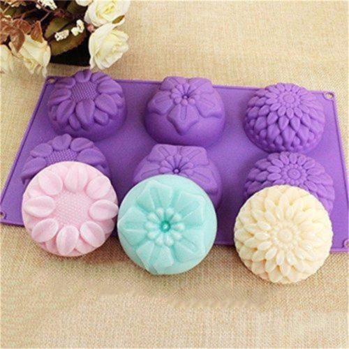 תבנית סיליקון להכנת סבון בצורת פרחים